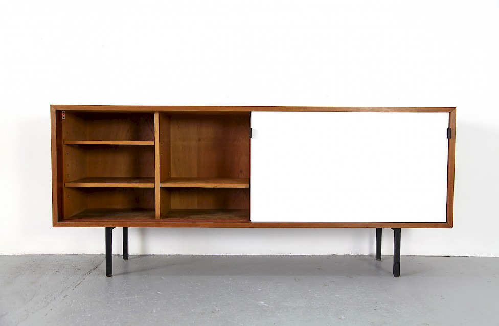 Florence Knoll Sideboard with Resopal Sliding Doors