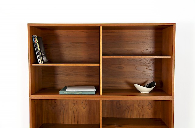 Danish Modern Teak Modular Wall Unit Shelving System by Ib Kofod-Larsen for Faarup Denmark 1960_1