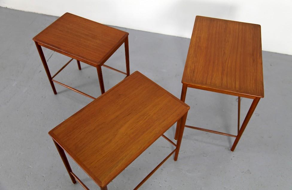 Amazing Danish Modern Teak Satztische Set Von Grete Jalk Fuer Jeppesens Mobelfabrik  Dänemark 1960_5 Design Inspirations