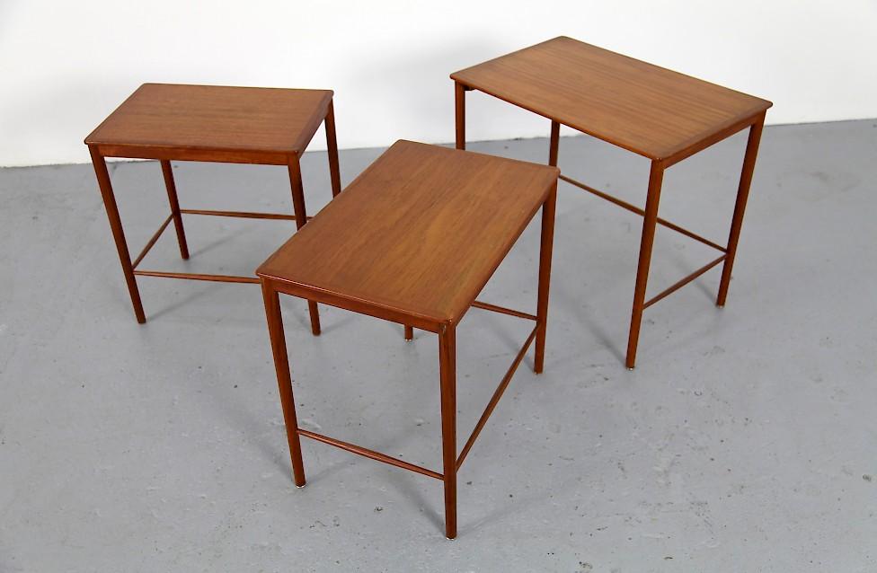 Lovely Danish Modern Teak Satztische Set Von Grete Jalk Fuer Jeppesens Mobelfabrik  Dänemark 1960_1 Amazing Pictures