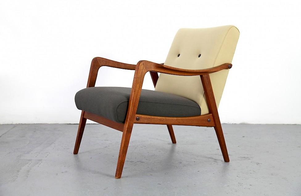 Danish Modern Teak Sessel Mit Neuer Polsterung Nr3 Adore Modern