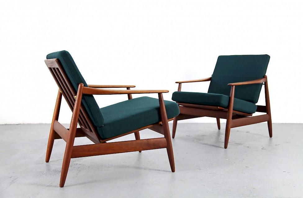 Teak Easy Chair With Kvadrat Fabric By Hans Olsen Nr1 Adore Modern