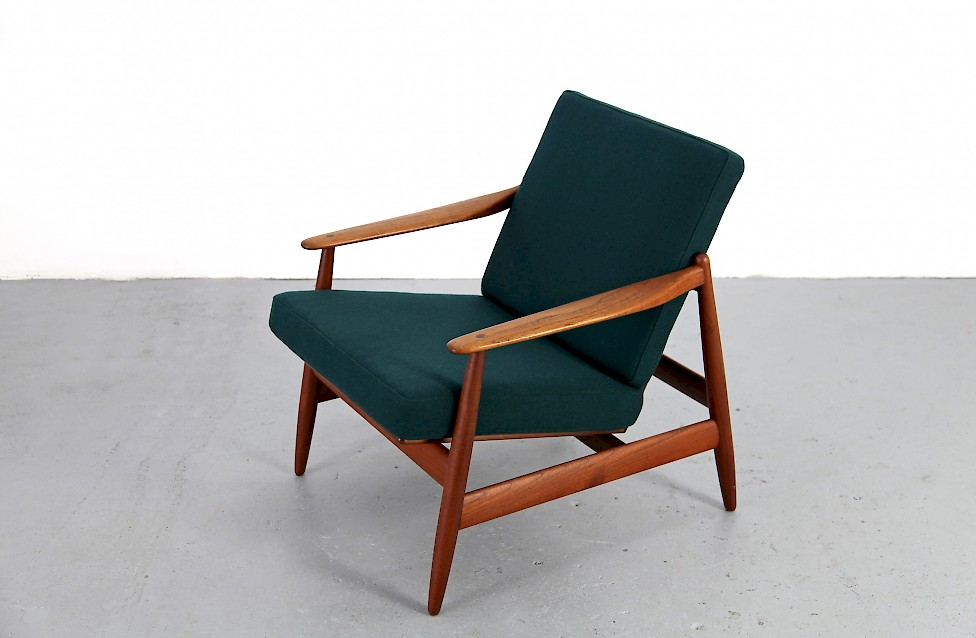 Teak Easy Chair With Kvadrat Fabric By Hans Olsen Nr2 Adore Modern