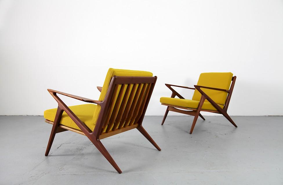 Design Klassiker Z Chair Von Poul Jensen Fuer Haslev Kvadrat Hallingdal Gelb Denmark 1