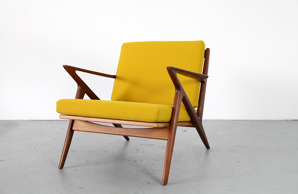 Design Klassiker Z Chair Von Poul Jensen Fuer Haslev Kvadrat Hallingdal Gelb Denmark 5