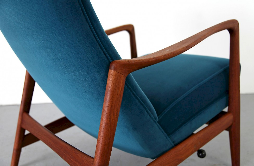 Teak Easy Chair With Ottoman Adore Modern