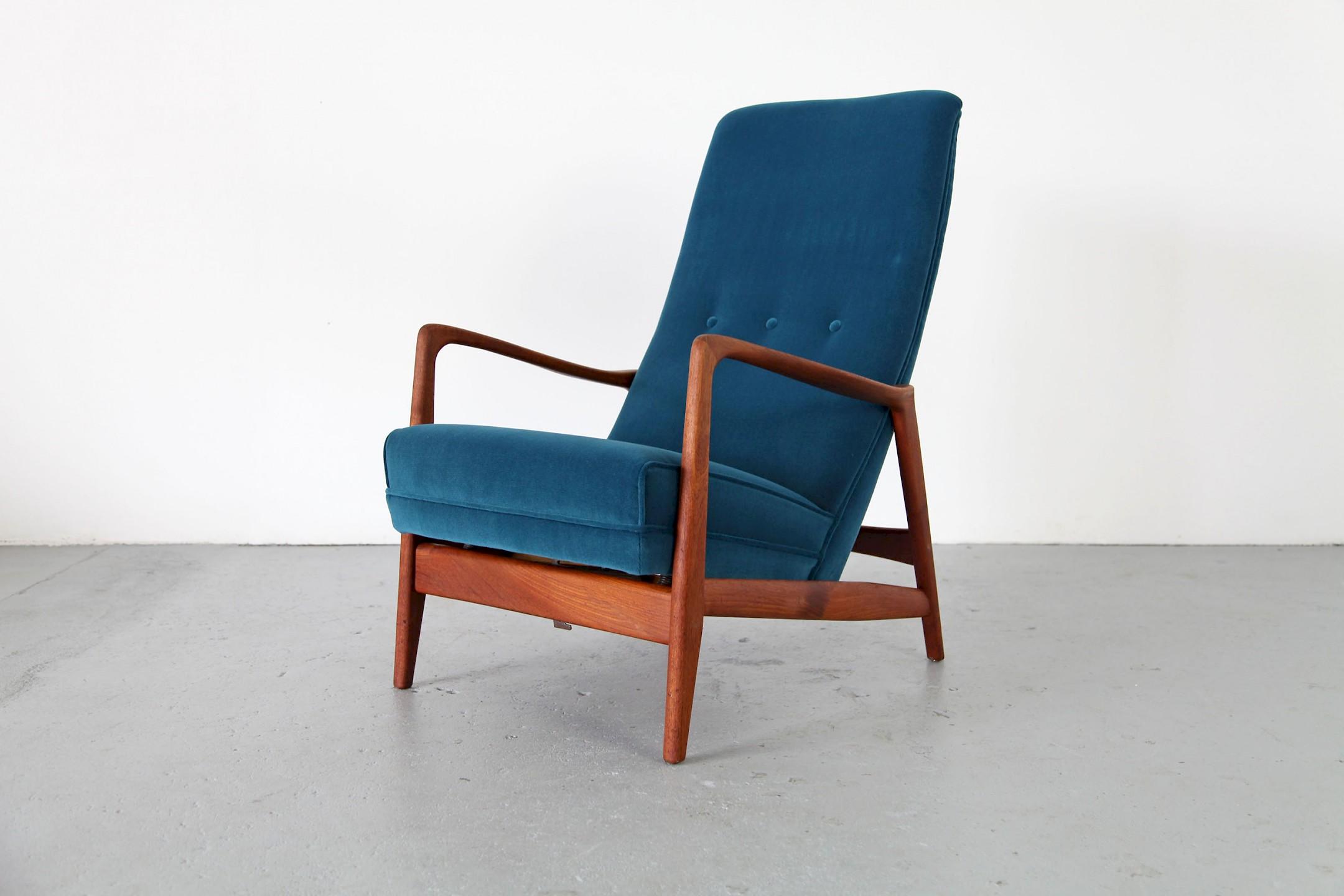 teak sessel mit ottomane adore modern. Black Bedroom Furniture Sets. Home Design Ideas