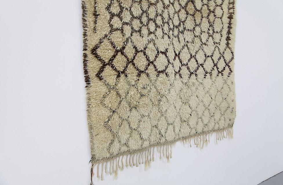 Vintage Berber Wool Carpet Brown Green Amp White Adore