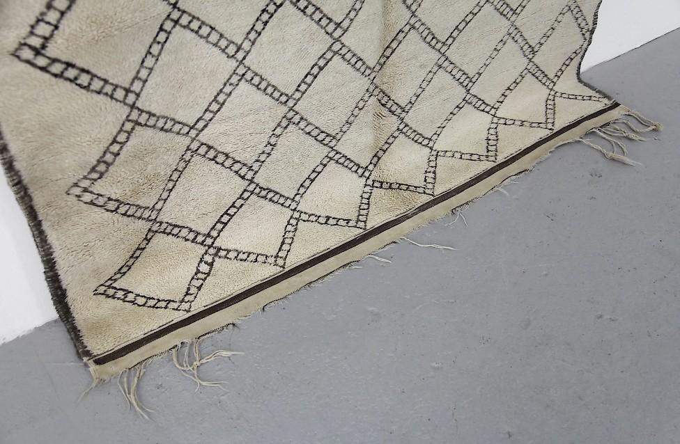 Vintage Berber Wollteppich Schwarz Amp Wei 223 Adore Modern