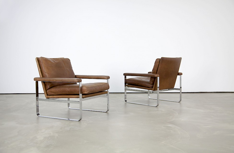 Set Danish Leather Lounge Chairs & Set Danish Leather Lounge Chairs - Adore Modern