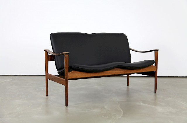 Leather Sofa by Frederik A. Kayser