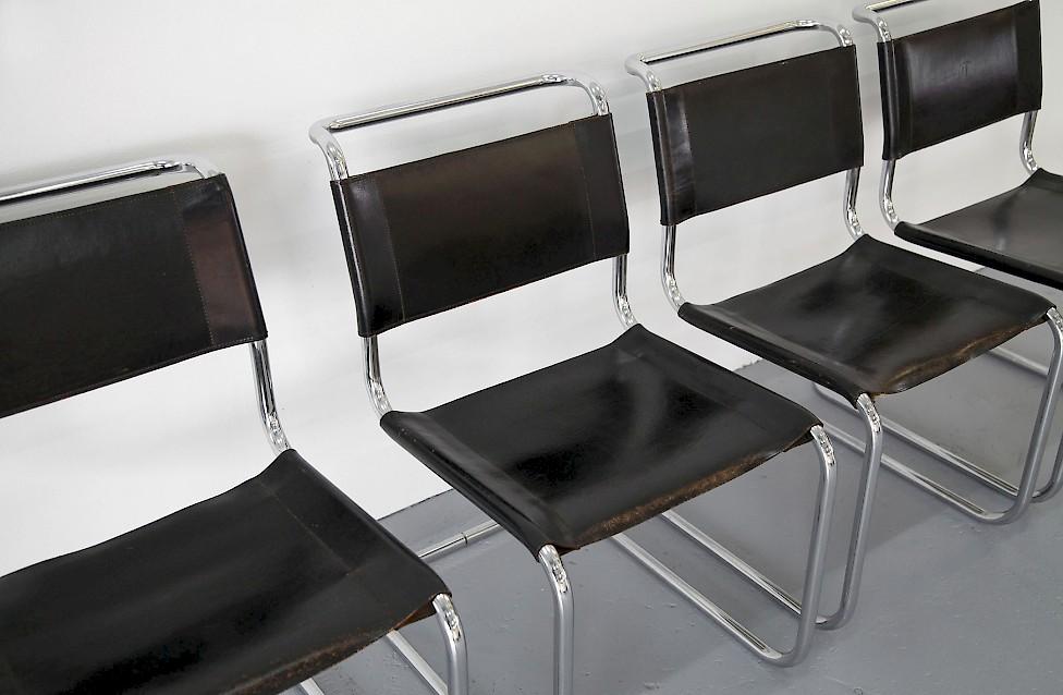 vier bauhaus st hle s33 von mart stam adore modern. Black Bedroom Furniture Sets. Home Design Ideas