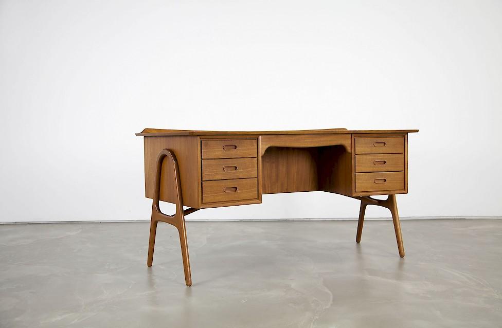 Teak Desk by Svend Aage Madsen