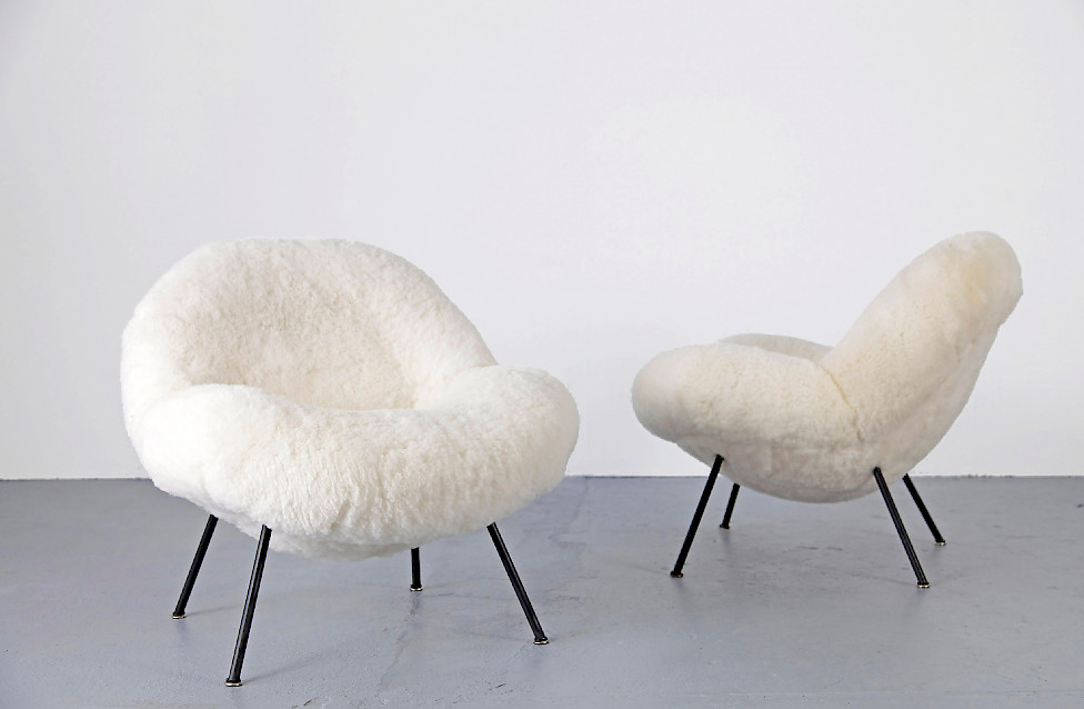 Set of Club Chairs by Fritz Neth