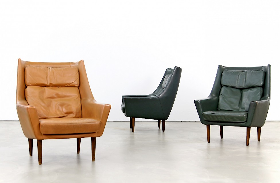 Two danish lounge chairs adore modern for Lounge chair kopie