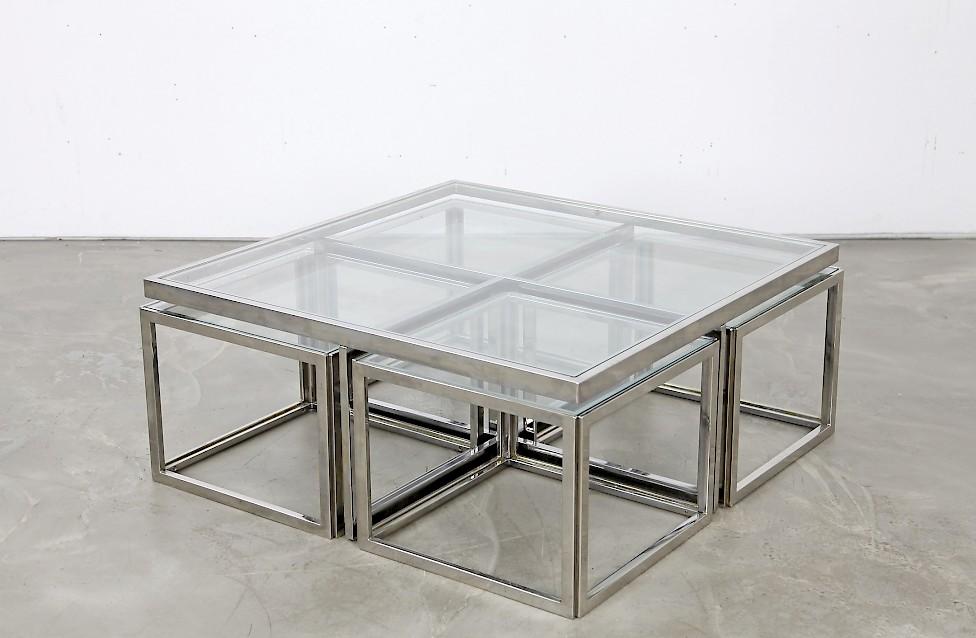 couchtisch aus chrom und glas adore modern. Black Bedroom Furniture Sets. Home Design Ideas