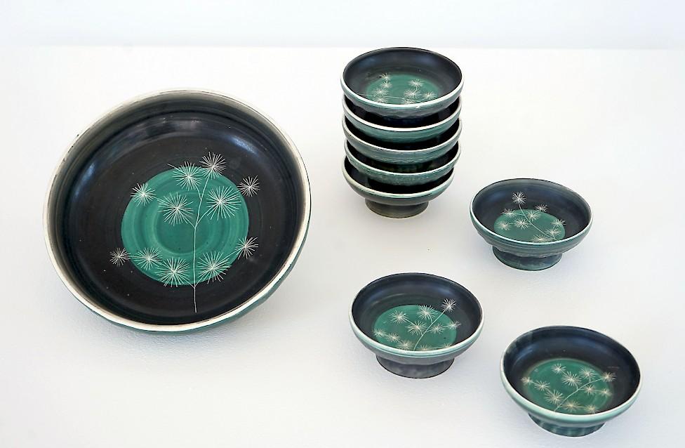 Tapis Vert / Set of Ceramic Bowls
