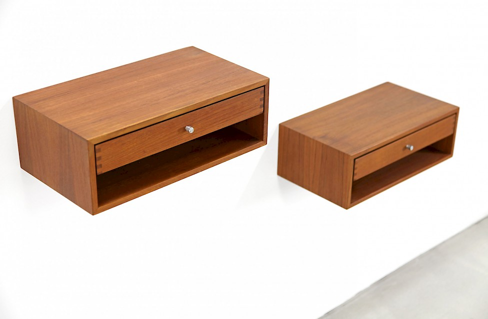 Set of Two Teak Wall Consoles by Kai Kristiansen