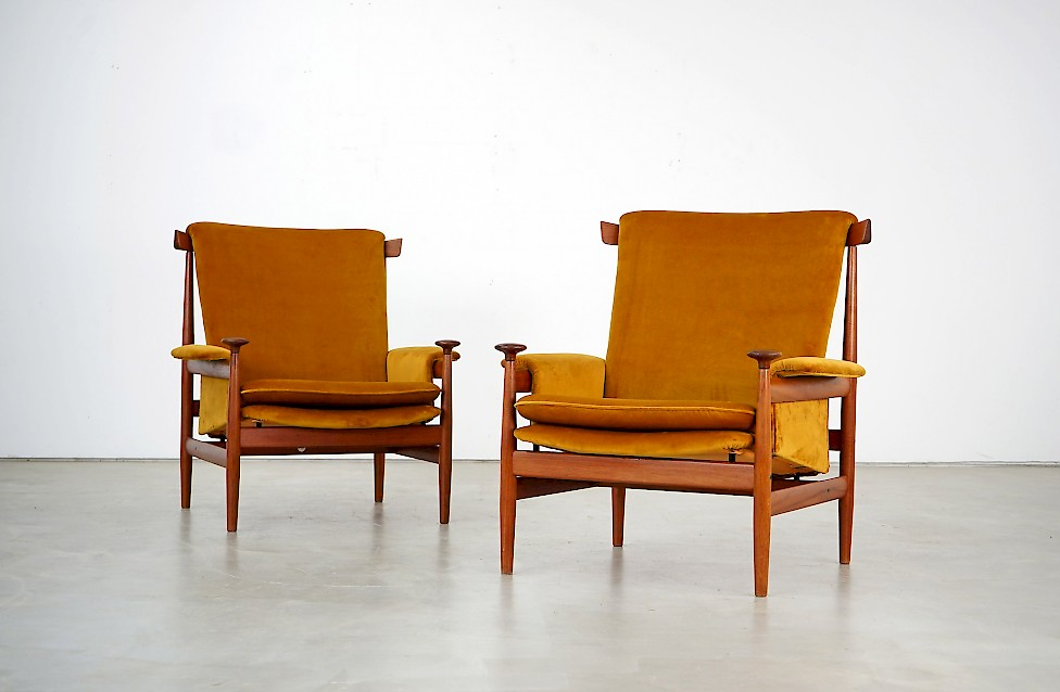 Two Bwana Chairs by Finn Juhl