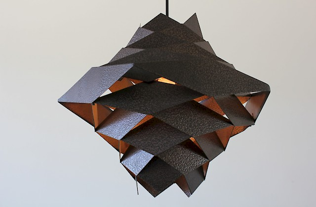 Steel Pendant Lamp by Preben Dahl