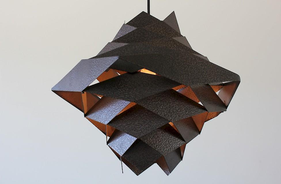Steel Pendant Lamp by Preben Dahl