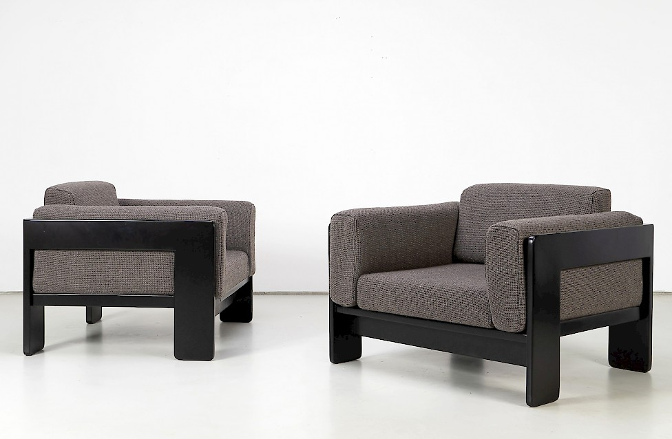 """""""Bastiano"""" Lounge Chairs by Afra & Tobia Scarpa"""