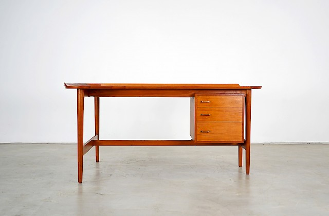 Rare Teak Writing Desk by Arne Vodder
