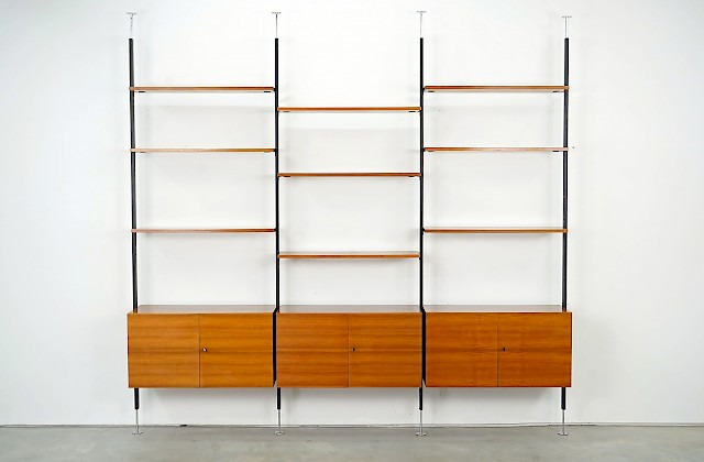 Spacious Freestanding Shelving Unit by U. P. Wieser