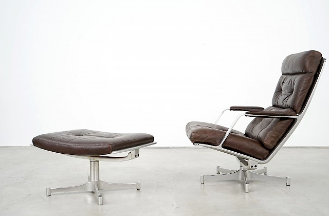 Lounge Chair and Ottoman FK 85 by Fabricius & Kastholm
