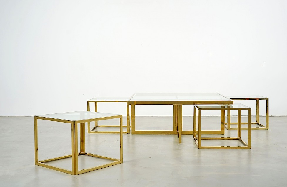 Full Brass Coffee Table