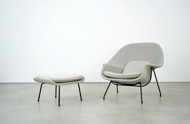 Womb Chair and Ottoman by Eero Saarinen