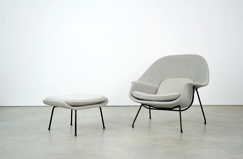 Womb Chair und Ottomane von Eero Saarinen