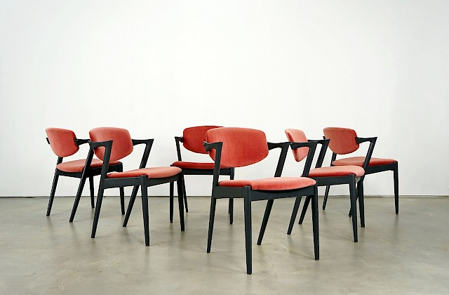 Set of 6 Dining Chairs by Kai Kristiansen