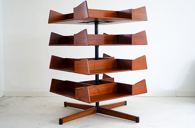 Rare teak shelf by Palle Pedersen and Erik Andersen