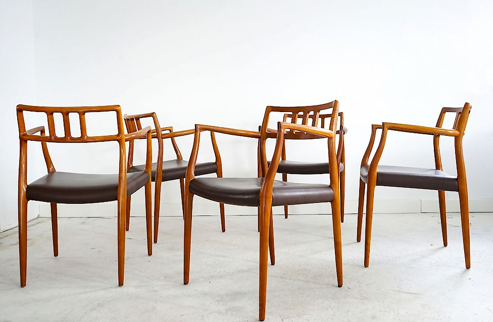 Dining Chairs Model 64 by Niels Otto Møller