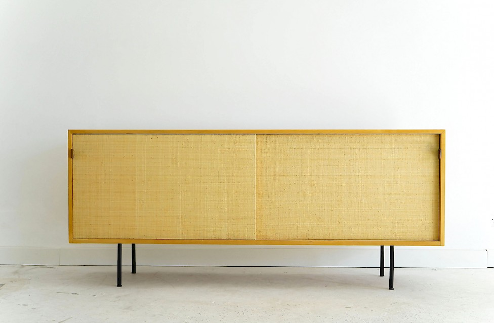 Ash and Seagrass Sideboard by Florence Knoll