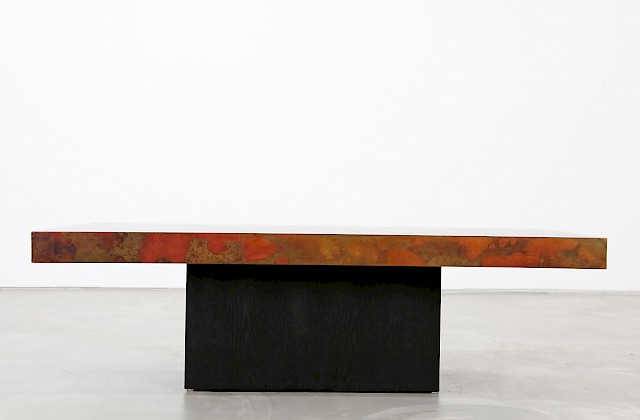 Copper Coffee Table by Bernhard Rohne