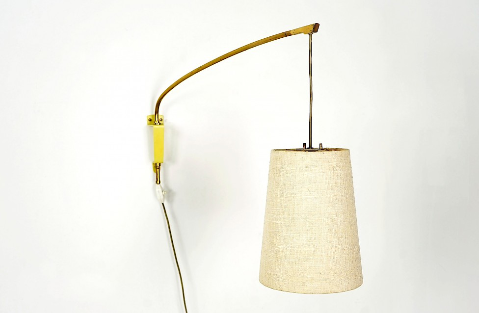 Swiveling Brass Wall Light