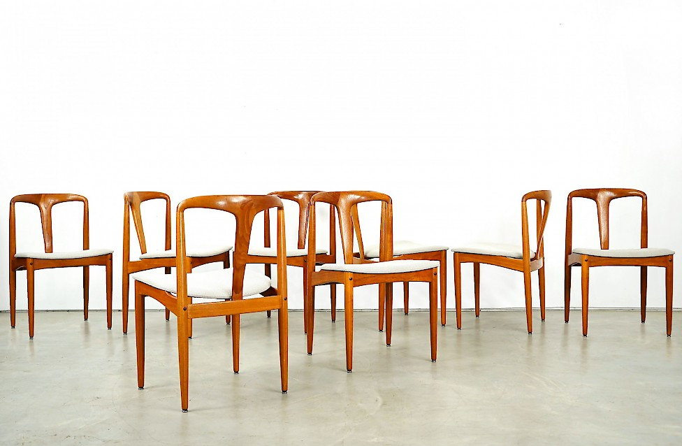 "Set of Eight ""Juliane"" Dining Teak Chairs by Johannes Andersen"