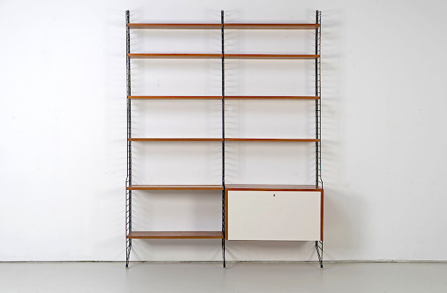 "Wall-Mounted String Shelf by Kajsa & Nils ""Nisse"" Strinning"