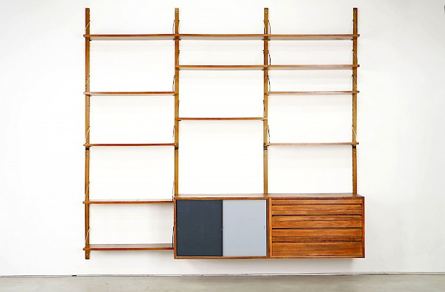 Royal System Wall-Mounted Shelf by Poul Cadovius