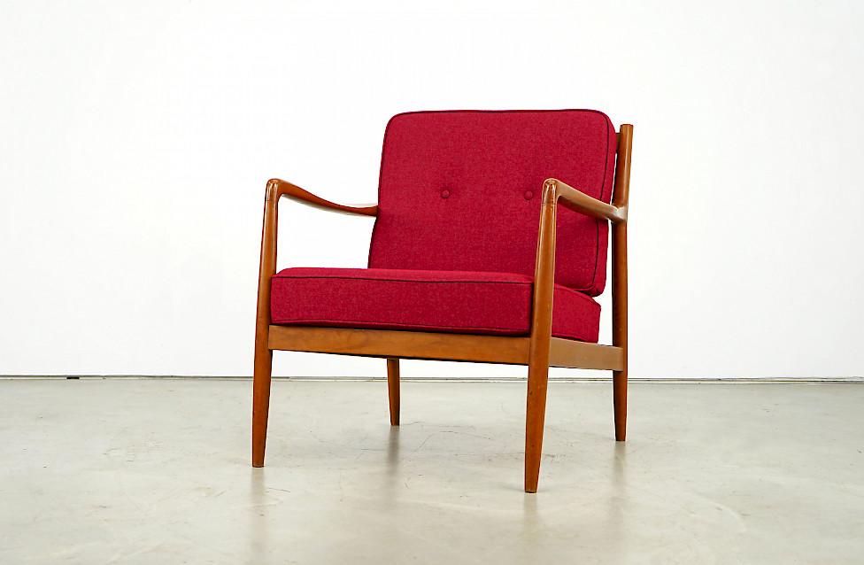 Elegant Teakwood Lounge Chair