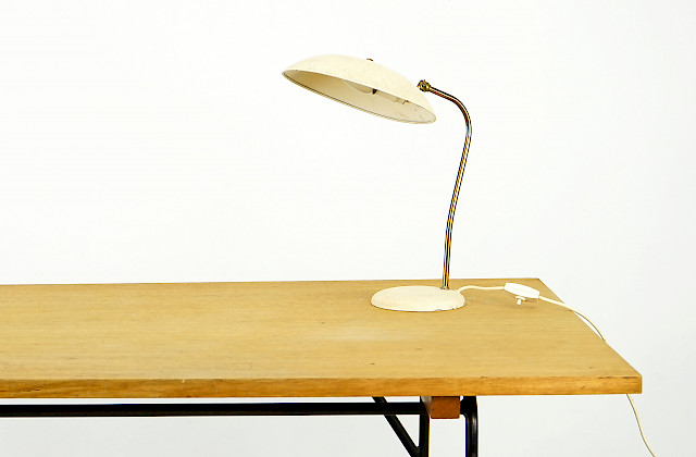Table Light with Brass and Lacquer