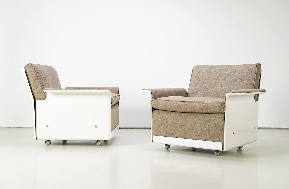Dieter Rams Two Lounge Chairs RZ 62