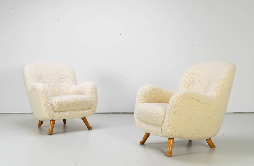 Pair of Club Chairs by Berga Mobler