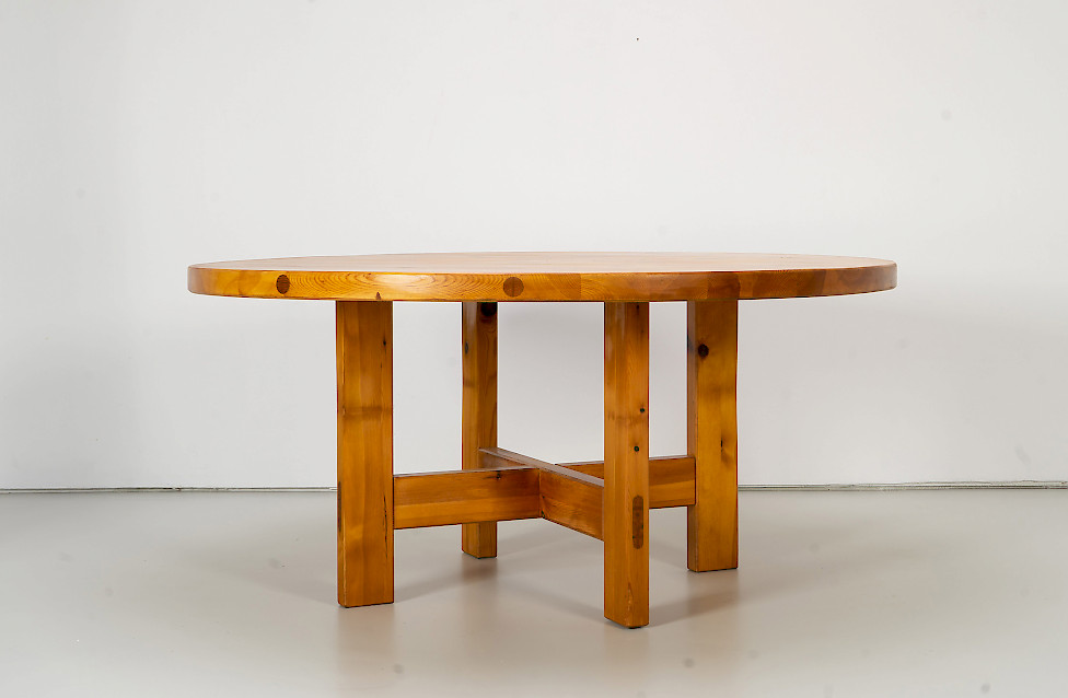 Pine Dining Table by Roland Wilhelmsson