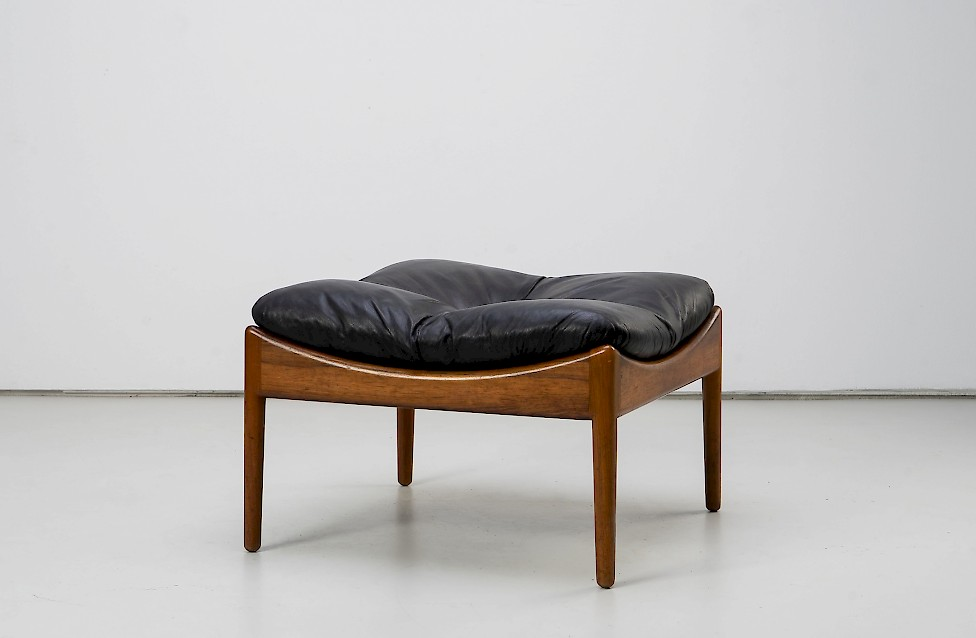 Rosewood Ottoman by Kristian Solmer Vedel