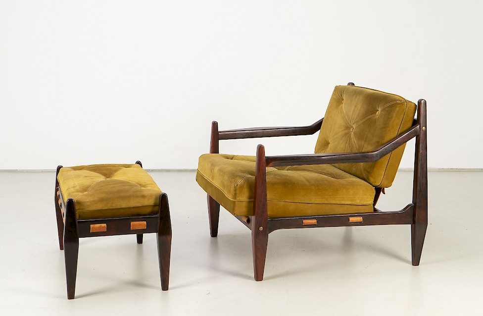 Jean Gillon - Rosewood Easy Chair with Ottoman