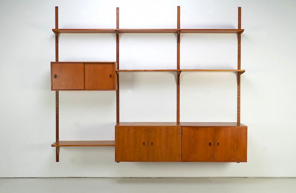Large Teak Shelf by HG Møbler