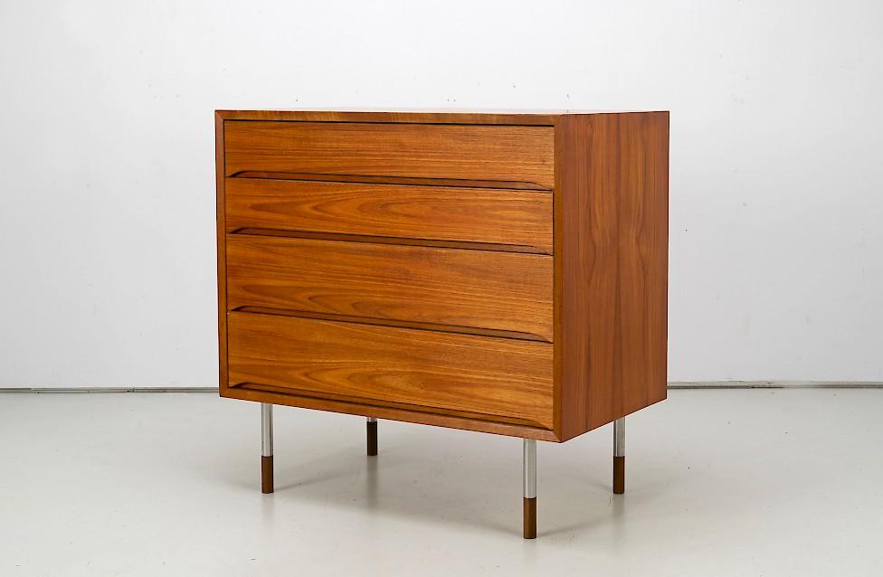 Vintage Teak Wood Chest of Drawers